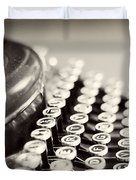 Antique typewriter Duvet Cover by Ivy Ho