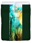 Aphrodite's First Love - Guitar Art By Sharon Cummings Duvet Cover by Sharon Cummings