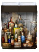 Apothecary - For All Your Aches And Pains  Duvet Cover by Mike Savad