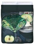 Apple Martini Duvet Cover by Debbie DeWitt