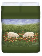 Apple Sows Duvet Cover by Ditz