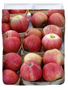 Apples In Small Baskets Duvet Cover by Paul Velgos