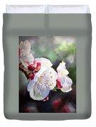 Apricot Flowers Duvet Cover by Irina Sztukowski