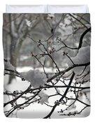 April Snow Duvet Cover by Kay Novy