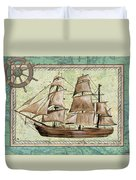Aqua Maritime 1 Duvet Cover by Debbie DeWitt