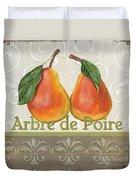 Arbre De Poire Duvet Cover by Debbie DeWitt
