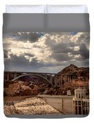 Arch Bridge And Hoover Dam Duvet Cover by Robert Bales
