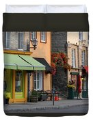 Arch Of Flowers In Old Quebec City Duvet Cover by Juergen Roth
