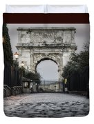 Arch Of Titus Morning Glow Duvet Cover by Joan Carroll