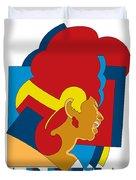 Aretha Franklin No.05 Duvet Cover by Caio Caldas
