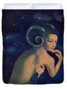 Aries From Zodiac Series Duvet Cover by Dorina  Costras