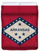Arkansas State Flag Duvet Cover by Pixel Chimp