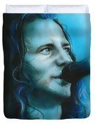 'arms Raised In A V' Duvet Cover by Christian Chapman Art
