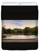 Around The Central Park Pond Duvet Cover by Madeline Ellis