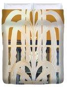 Art Deco Window Duvet Cover by Diane Wood