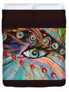 Artwork Fragment 90 Duvet Cover by Elena Kotliarker