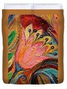 Artwork Fragment 93 Duvet Cover by Elena Kotliarker