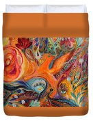 Artwork Fragment 99 Duvet Cover by Elena Kotliarker