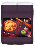 As American As Baseball And Apple Pie Duvet Cover by Lianne Schneider
