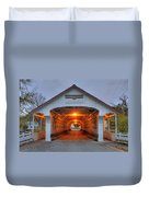 Ashuelot Covered Bridge Duvet Cover by Joann Vitali