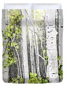 Aspen grove Duvet Cover by Elena Elisseeva