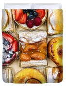 Assorted Tarts And Pastries Duvet Cover by Elena Elisseeva