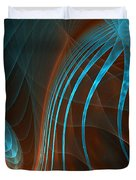 Astonished-fractal Art Duvet Cover by Lourry Legarde