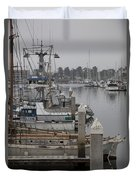 At The Dock Duvet Cover by Amanda Barcon