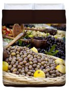 At The Market Duvet Cover by Brian Jannsen