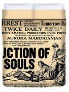 Auction Of Souls Duvet Cover by Digital Reproductions
