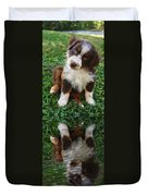 Aussie Double Trouble Duvet Cover by Kenny Francis