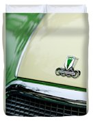 Auto Union Dkw Hood Emblem Duvet Cover by Jill Reger