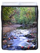 Autumn Begins Duvet Cover by Frozen in Time Fine Art Photography