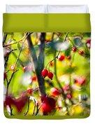 Autumn Berries  Duvet Cover by Stelios Kleanthous