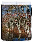 Autumn Blue Duvet Cover by Karol Livote