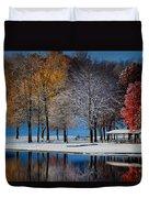 Autumn Blues Duvet Cover by Rob Blair