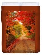 Autumn Cameo Duvet Cover by Terri Gostola
