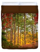Autumn Canvas Duvet Cover by Carol Groenen