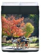 Autumn Carriage Ride Duvet Cover by Barbara McDevitt