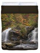 Autumn Cascades Duvet Cover by Debra and Dave Vanderlaan