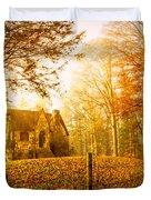 Autumn Cottage Duvet Cover by Debra and Dave Vanderlaan