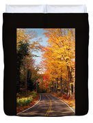 Autumn Country Road Duvet Cover by Joann Vitali