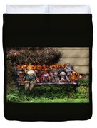 Autumn - Family Reunion Duvet Cover by Mike Savad