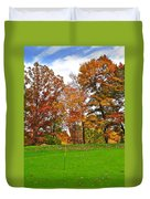Autumn Golf Duvet Cover by Frozen in Time Fine Art Photography