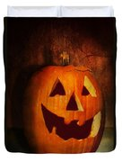 Autumn - Halloween - Jack-o-lantern  Duvet Cover by Mike Savad