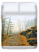 Autumn Hike Duvet Cover by Peggy King