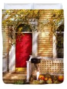 Autumn - House - A Hint Of Autumn Duvet Cover by Mike Savad