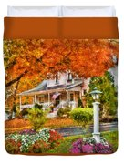 Autumn - House - The Beauty Of Autumn Duvet Cover by Mike Savad
