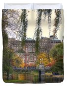 Autumn in Boston Garden Duvet Cover by Joann Vitali