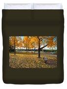 Autumn In Calgary Duvet Cover by Trever Miller